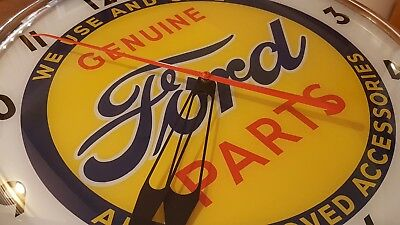 Pam style Lighted Advertising GENUINE FORD PARTS & SERVICE Clock