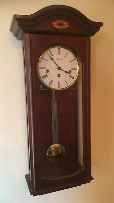 Acctim Hermle 8 Day Westminster Chime Wood Cased Wall Clock
