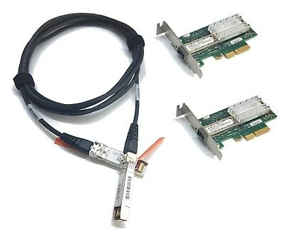 LP 10G Netzwerk Kit 2x Mellanox ConnectX-3 10Gigabit NIC 10GBe 1x 3m SFP+ Cisco