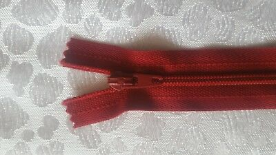 DARK RED YKK Closed End Nylon Zips Sewing Cushions upholstery SUPER QUALITY