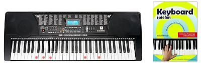 61 Leucht Tasten Keyboard E-Piano Keyboardschule 255 Sounds & Rhythmen USB MP3