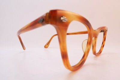 Vintage 50s acetate eyeglasses frames Artcraft USA 44-20 women's medium SMART