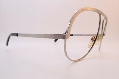 Vintage 70s Rodenstock eyeglasses frames brushed steel size 58-16 Germany