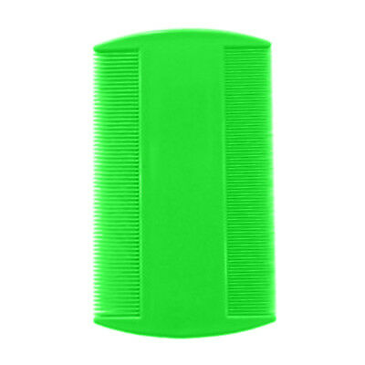 2 x GREEN Plastic Ultra Fine Nit LICE Comb Children Hair nit remover Dual sides