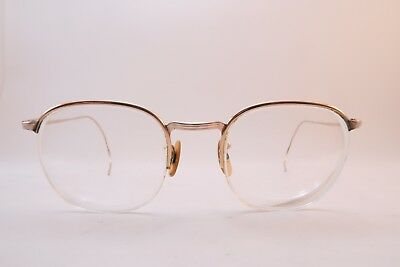 Vintage 40s BAO gold filled eyeglasses frames coil arms supra made in England