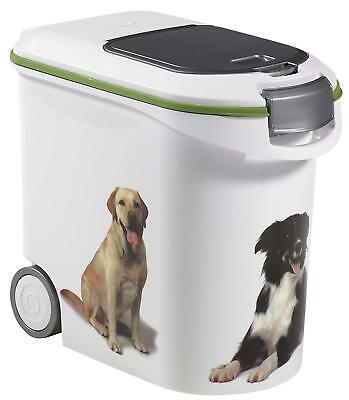 Dog Food Storage Container Curver 35L Capacity Home Fresh Seal Scoop White New