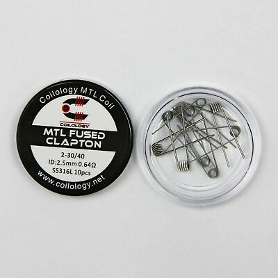 MTL 316L Pre-Made fused Clapton Coils (10 Pack) by Coilology