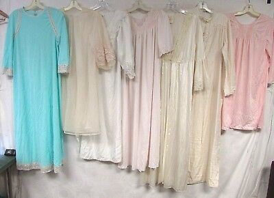 Lot of 50 Vintage Nightgowns Robes Bed Jacket Nylon Lace Floral Nightie Vanity F