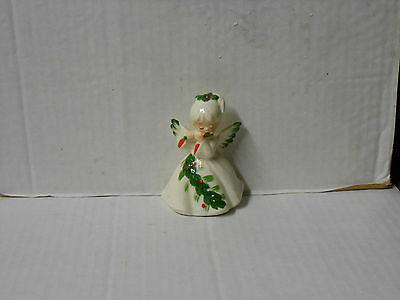 """LEFTON 4"""" HOLLY CHRISTMAS ANGEL #6394 EXCELLENT CONDITION With Label FREE SHIP"""