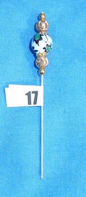 17.pin Divider For Lacemaking Vintage Moretti Millifiore Bead  Nice Sharp Point