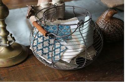 French Wire Egg Basket~Vintage Style