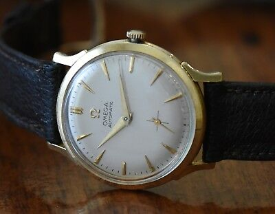 e2d4be5025ad 1953-1954 Vintage Omega Seamaster Bumper Automatic Cal. 344 - 14k Gold  Filled