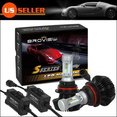9004 HB1 8000Lumen Headlight Dual Beam LED Bulb Replace HID BroView S Series S7