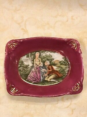 """Vintage Hand Painted Dish 3 5/8"""" Made in Occupied Japan"""