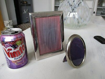 antique sheffield silver plated photo picture frame marked RC plus 1 other..