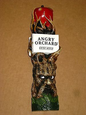 """Angry Orchard Crisp Apple Cider Beer Bitten Tall Large (11"""") Tap Handle Tree"""