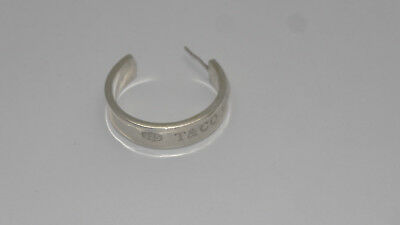 TIFFANY & CO 1837 Collection Sterling Silver 925 T & CO Hoop Single Earring 1997