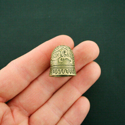 Tassel Bead Cap Charms Antique Bronze Tone 3D Bell Charm Ornate Design - BC1680