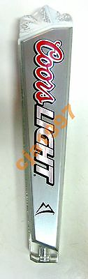 Slightly Use Beautifull Acrilic COORSLIGHT Beer Tap Handle Double Side Free S/H