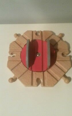 Wooden Train Track 8 Way Turntable For Brio Thomas Ikea Sets N