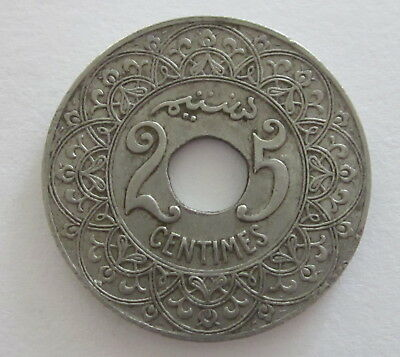 Morocco 25 Centimes Y 34.1 (ND) 1921, Circulated, Uncertified