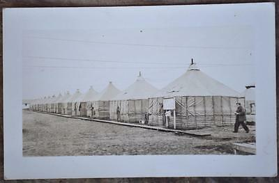 Vtg WWII US Army Camp Hulen Gulf of Mexico Tents Hurricane Photo Postcard TX
