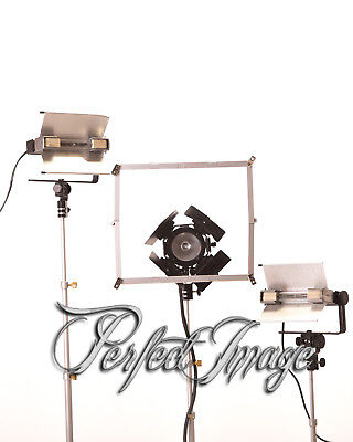 Lowel Vip Three light kit W/ case & accessories Photo / Video uses.