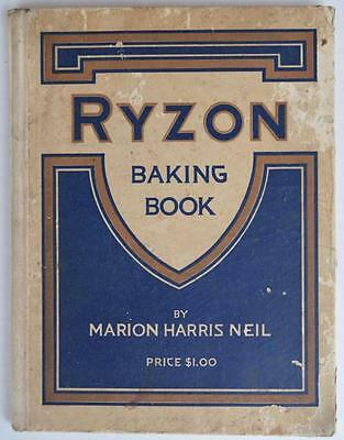 Vintage 1916 Ryzon Baking Cook Book Cookbook Marion Harris Neil Recipe