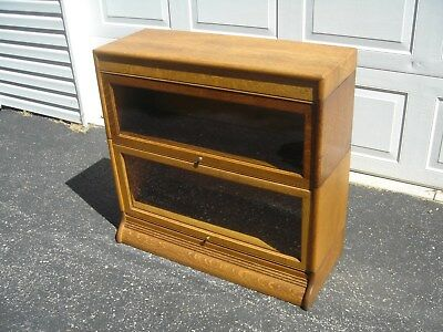 """Antique Qsaw Oak """"GUNN"""" Barrister/Bookcase Refinished """"FREE"""" Greyhound Shipping"""