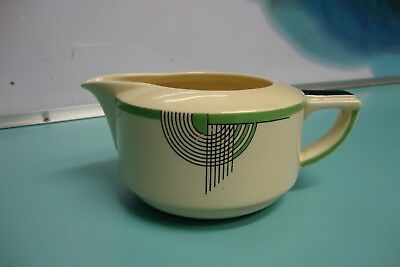 1 Rare Antique 1930's Royal Doulton GREEN ART DECO Tango Gravy sauce boat bowl