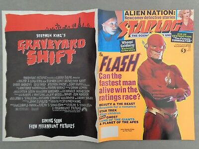 STARLOG mag - No.160  Nov 90   The Flash   Whoopi Goldberg   Alien Nation