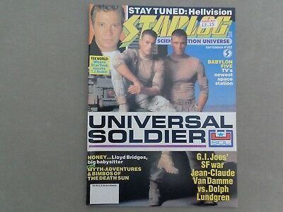 STARLOG mag - No 182 Sep 1992   William Shatner, Universal Solider, Thunderbirds