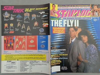 STARLOG mag - No.140  Mar 89   The Fly   Ghostbusters   Blakes 7   Starman