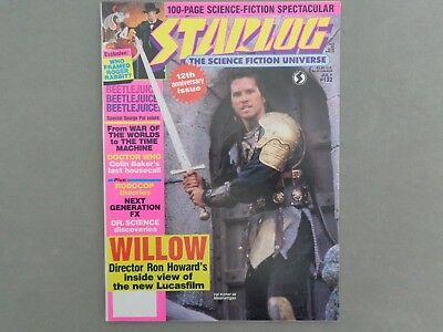 STARLOG mag - No 132. July 1988   Willow, Janet Leigh, Colin Baker, Beetlejuice