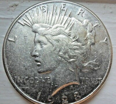 1923-S Peace Dollar - Strong Details, 90% Silver Coin