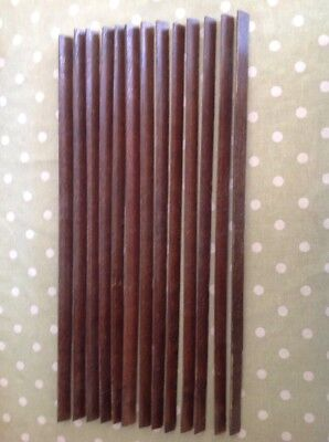 Vintage Wooden Stair Rods - 13 Altogether - Just Over 2 Foot In Length