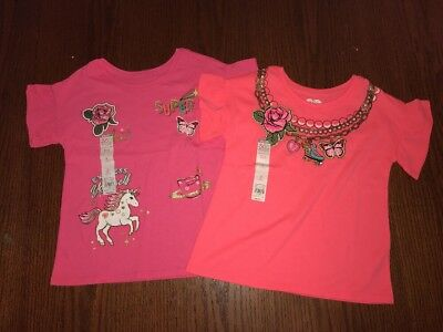 NWT ✿ Lot Of 2 365 Kids Girl's Size 6 Short Sleeve Shirts Pink