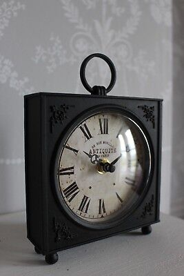 Retro Industrial Style Vintage Mantle Carriage Desk Clock Rue Murillo FREE POST