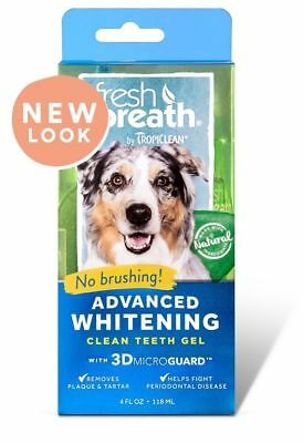 Tropiclean Fresh Breath Advanced Whitening Kit 118ml for Dogs Cats Fresh Breath