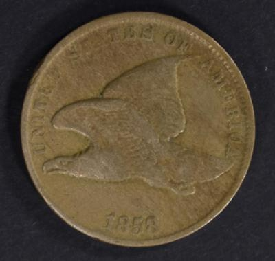 1858 Flying Eagle Cent, Vf
