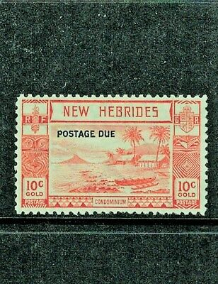 New Hebrides SG D7, Postage Due, 1938 set, KGVI, OG LH