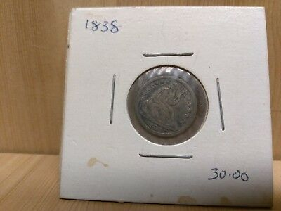 1838 Seated Liberty Half Dime - Great Condition