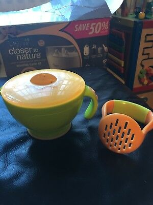 Plastic Baby Food Masher and Container