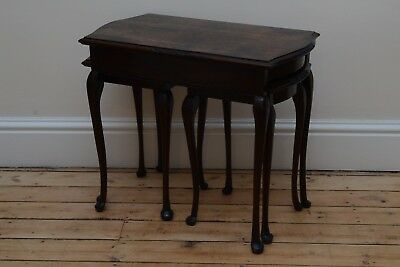Beautiful Set Of Georgian / Victorian (?) Sidetables Rosewood or Walnut Burl Res
