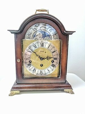 Hermle 8 Day Westminster Chiming Mantel Clock with Moonphase Movement