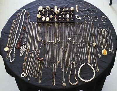 Large Lot Of Vintage Costume Jewelry-Avon-Sarah Cov-And More-Nice!