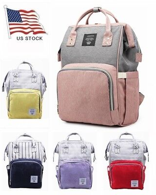 Mummy Diaper Backpack Large Capacity Baby Nappy Bottle LEQUEEN Travel Day Pack