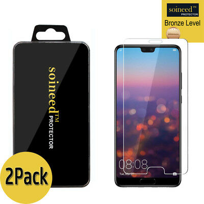 "[2-Pack] SOINEED Tempered Glass Screen Protector Saver For "" Huawei P20 Pro """