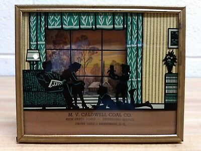 Vintage M.V. Caldwell Coal Co. Advertising 3D Picture, Fairforest, SC