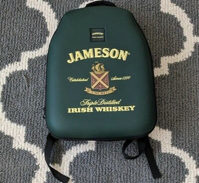 Jameson Irish Whiskey Sine Metu Ireland Green Backpack Hard Shell Daypack Case